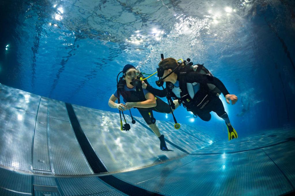 plongée sous-marine entrainement piscine